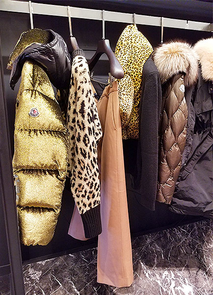 Animal print scarves and top
