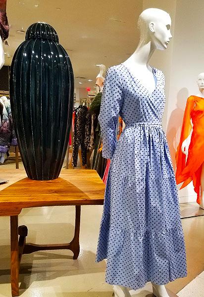 Soft Blue print dress
