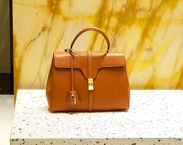 Caramel colored Celine bag is the new neutrals