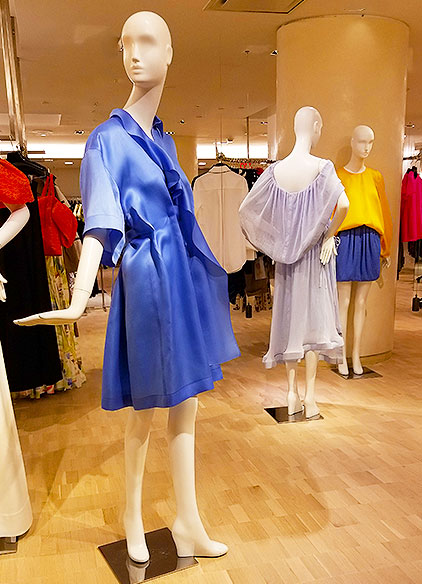 Dresses in shades of blue