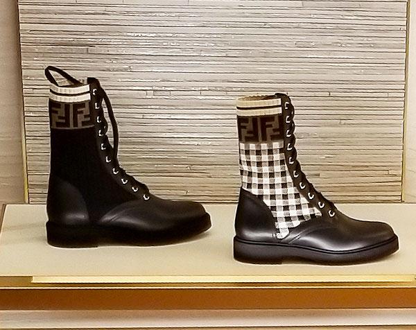 Fendi logo boots