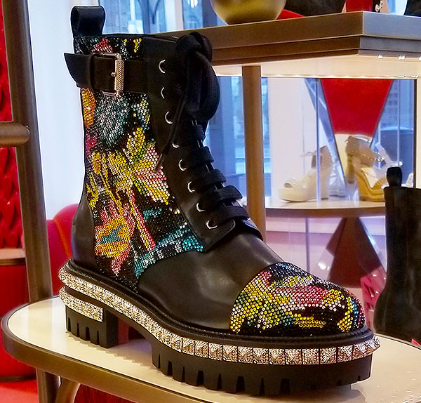 Louboutin boots are full of spring sole