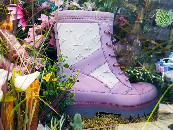 Vuitton boots will find spring