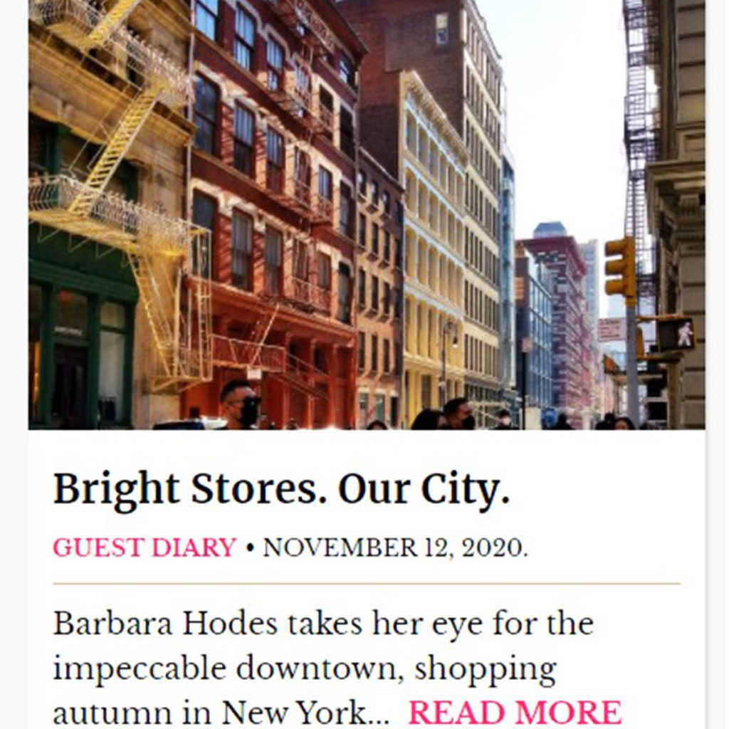 Bright Stores in New York Social Diary