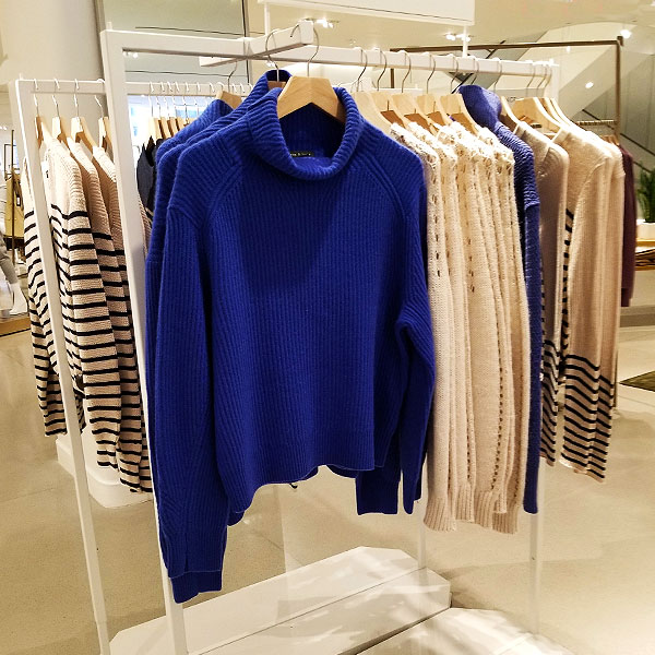 A bright Blue spring sweater