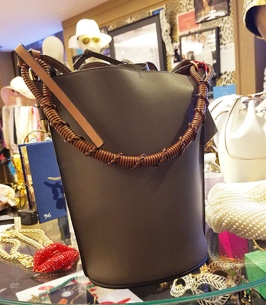 Hand crafted bucket bag.