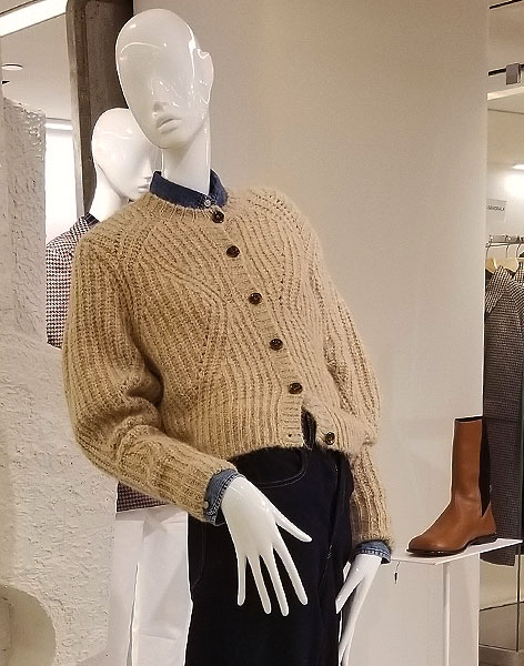 Neutral beige sweater for fall