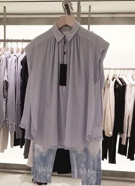 Blue stripe spring shirt