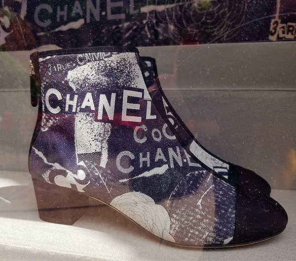 Chanel boots for New York City