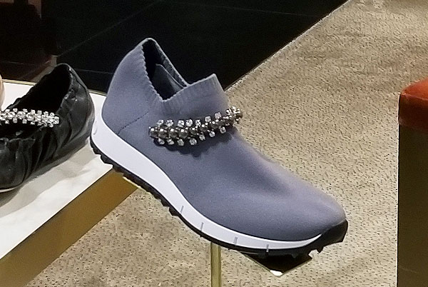 Grey Choo sparkly slippers