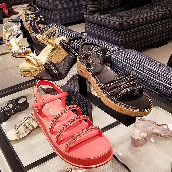 Chanel chain sandals