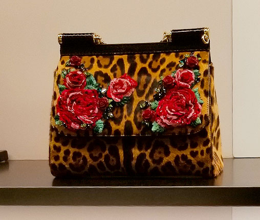 Dolce Gabbana Flower and Leopard bag