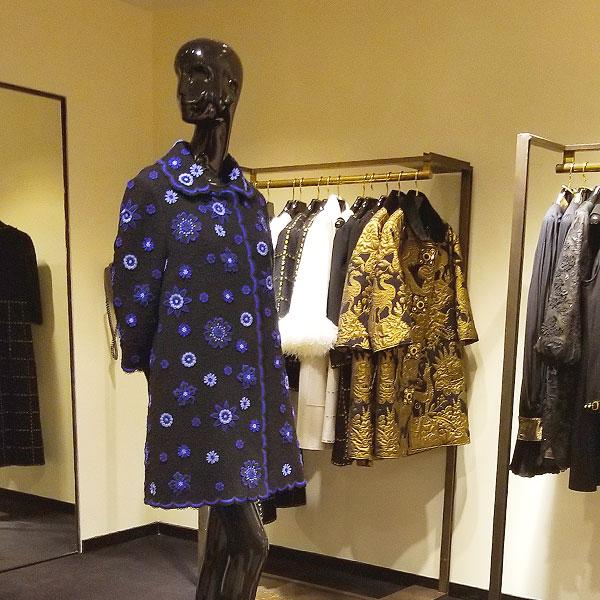 A blue applique spring coat