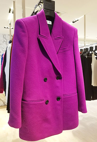 A magenta ST Laurent jacket