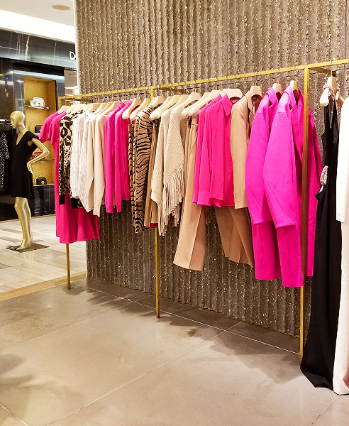 Stella McCartney uses pink in coats