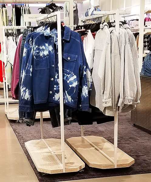 Tie dye spring denim jacket