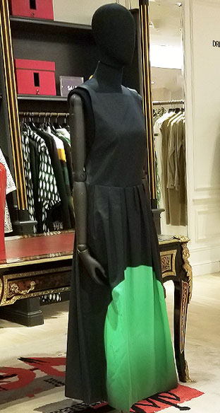 Mix Black and green in dress