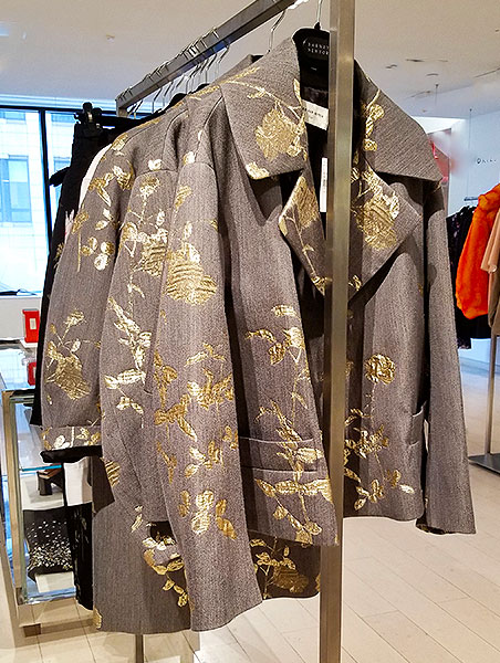Dries gold jacquard jacket