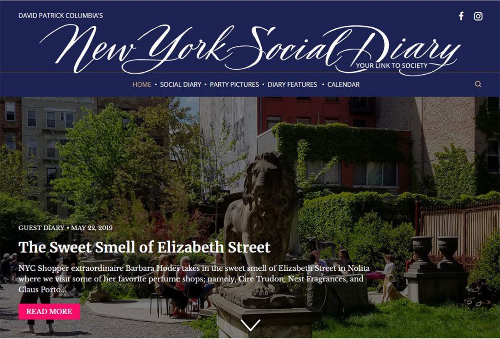New York Social Diary Column Elizabeth ST