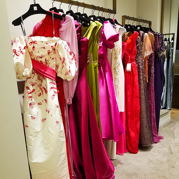 Pink evening dresses pick you up