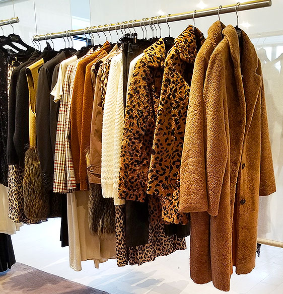 Fuzzy animal print coats