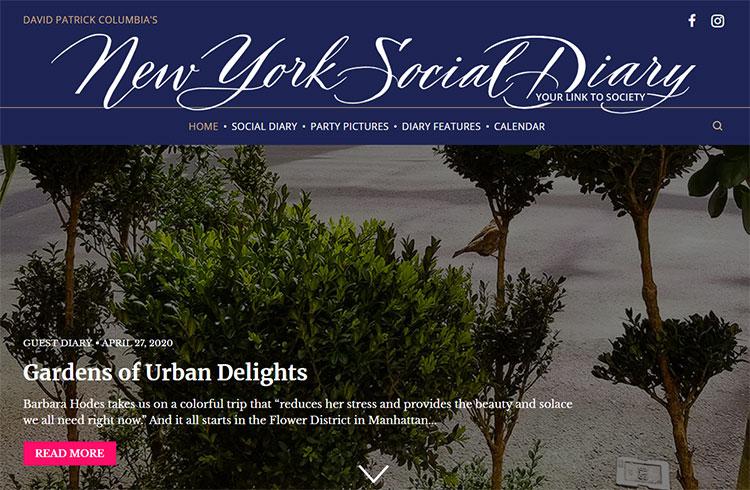 New York Social Diary Column