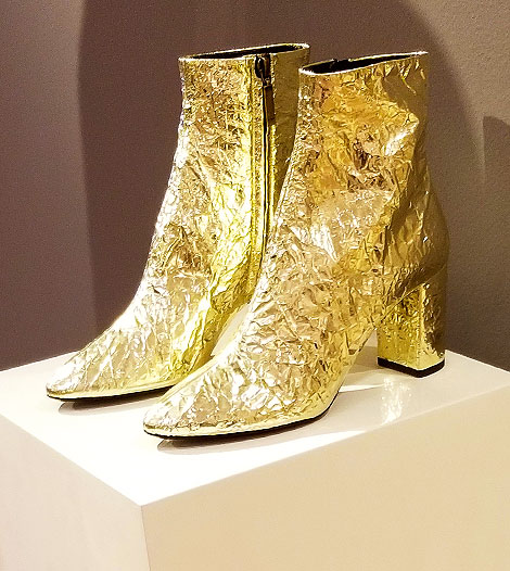 Gold boots on sale in January