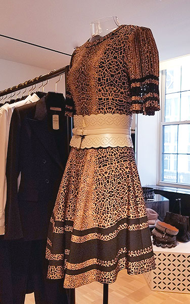 Azzedine knitted dress