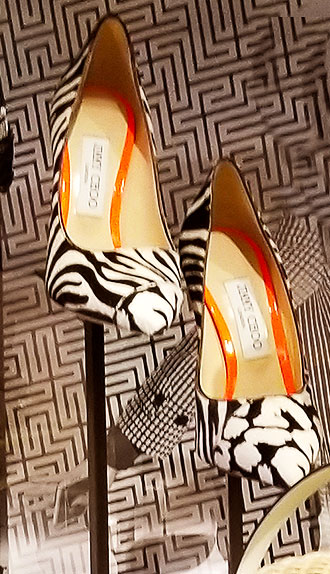 Animal print heels for summer