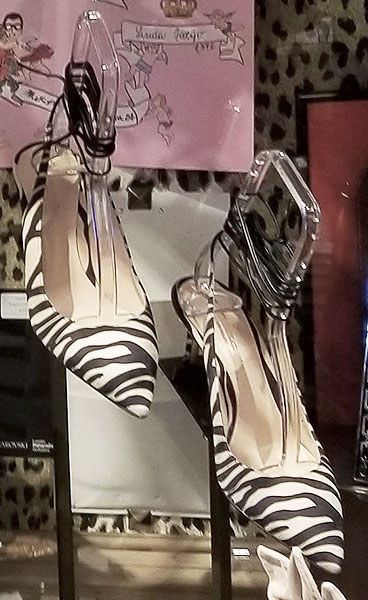Zebra heels for summer