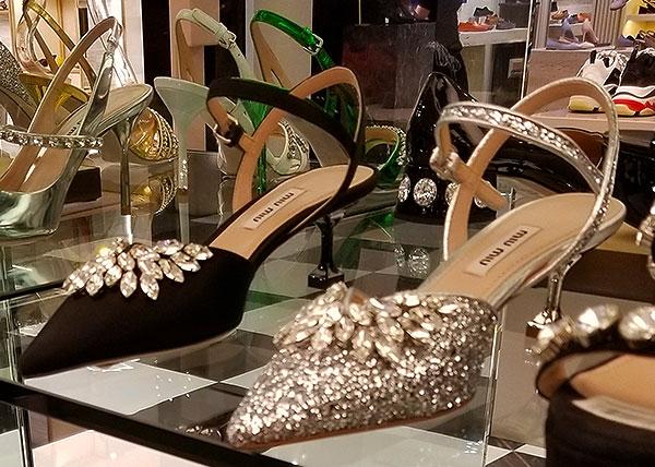 Diamonte evening heels