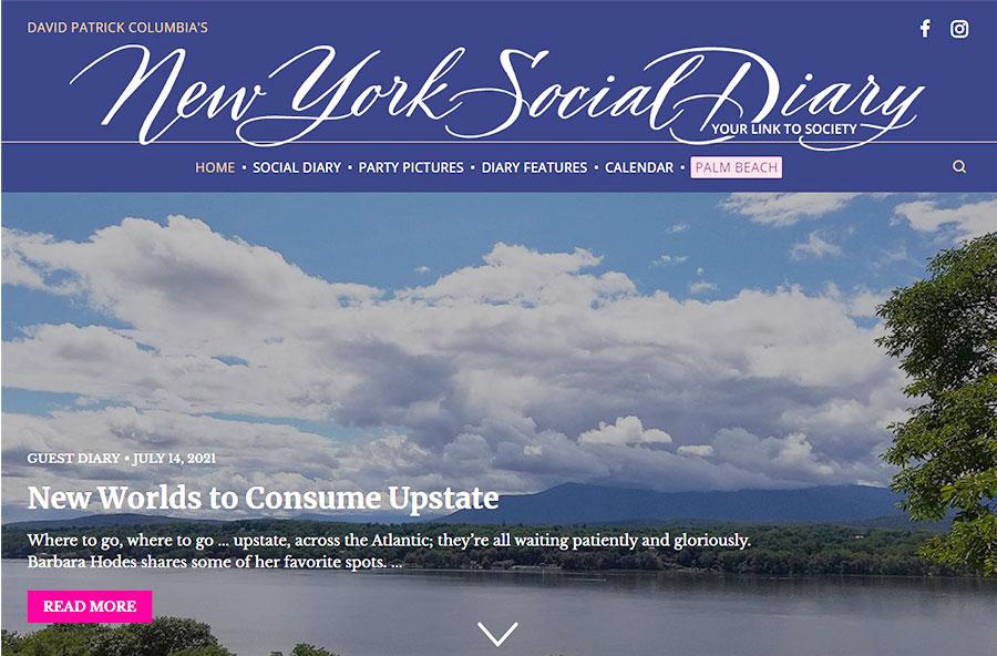 new york social Diary Hudson Valley