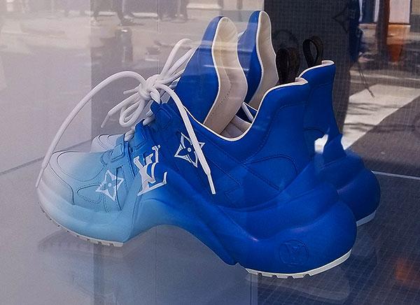 Vuitton Blue logo kicks