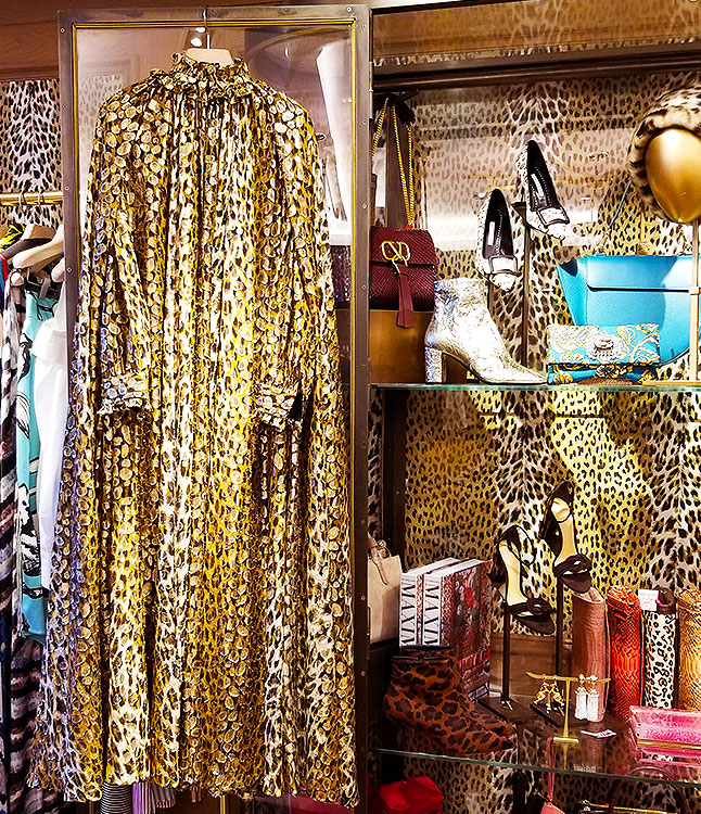 Gold animal prints in NYC