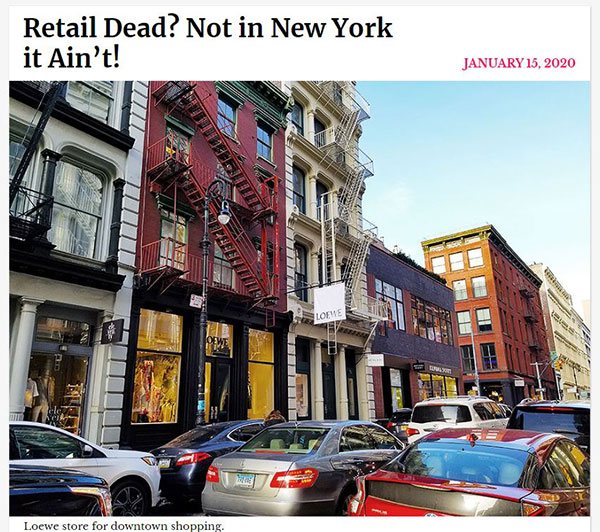Columns about new stores in New York City
