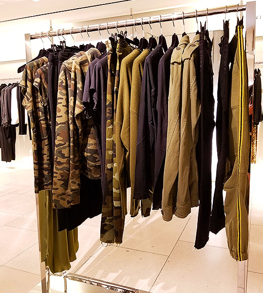 Make Military Green you go to Look in clothing like this with camouflage