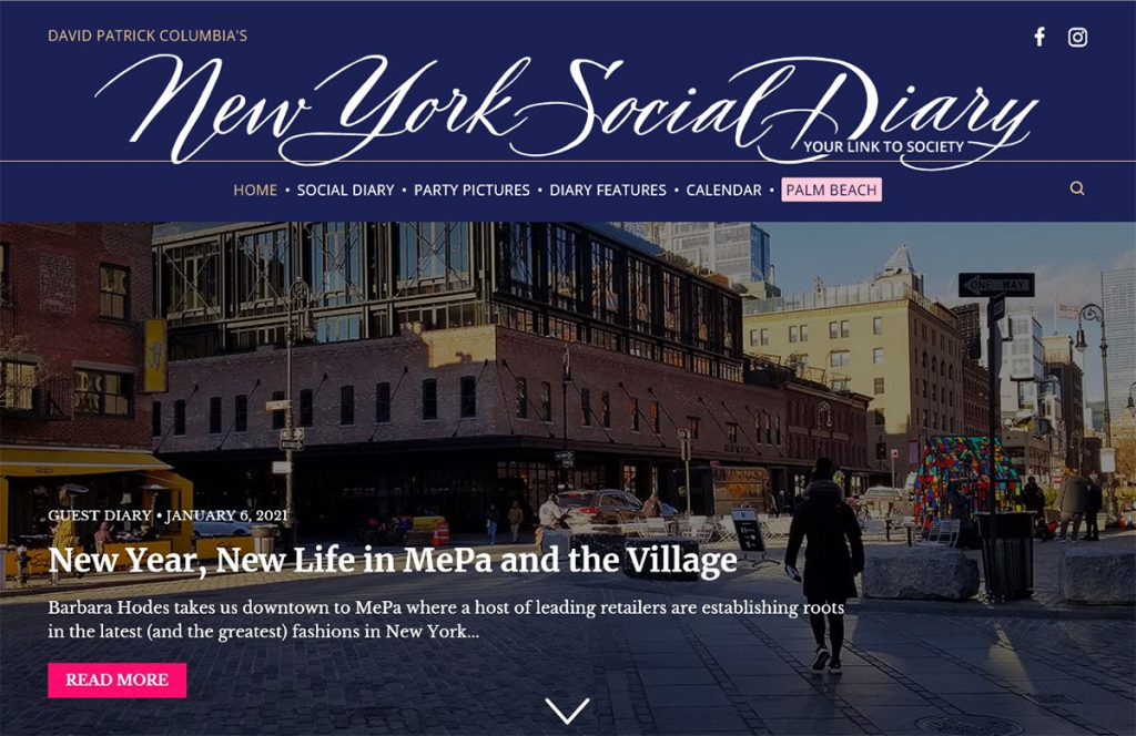 Mepa District column in New York Social Diary
