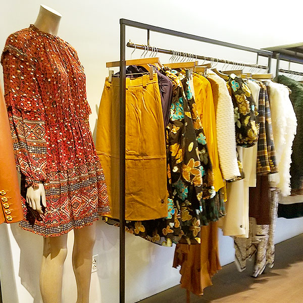Boho metallic print clothing