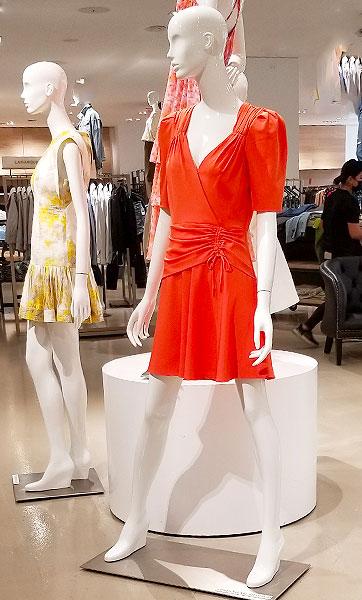 Orange wrap dresses for days