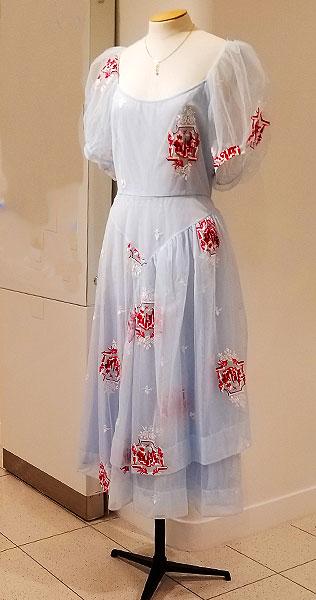A Light Blue print spring dress