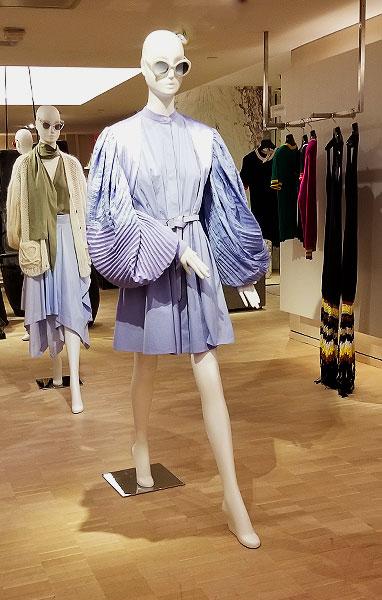 Blue print spring dress