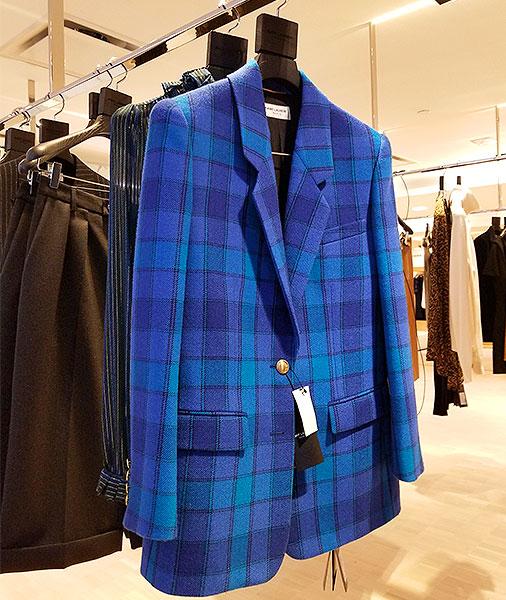 St Laurent plaid jacket