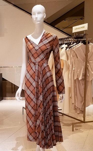 Bias plaid dress