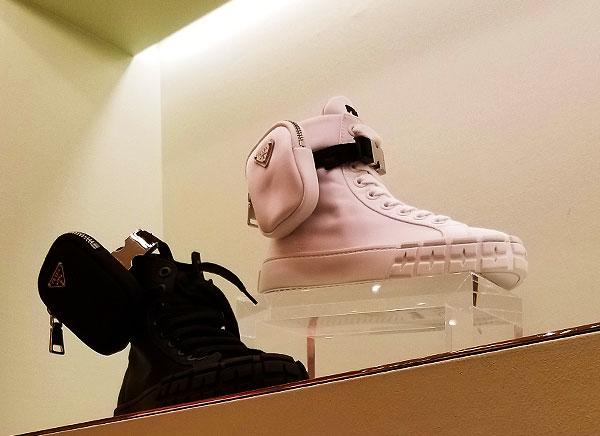 Prada kicks with bags