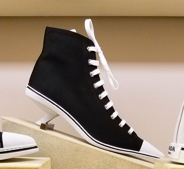 Prada low heel sneakers