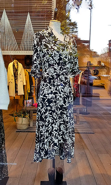 Printed dress to wear in New York