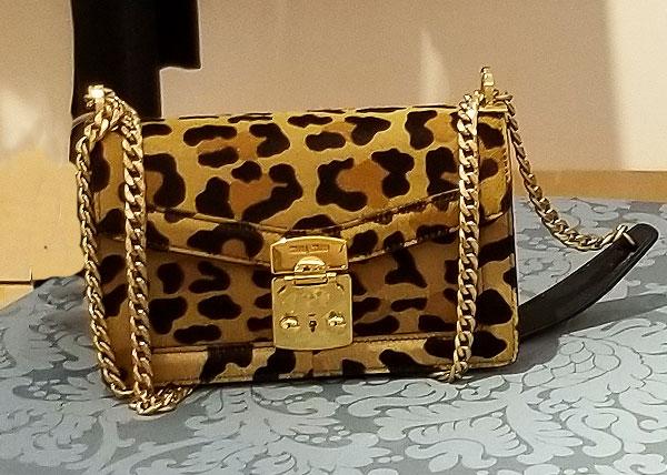 A Leopard Miu Miu shoulder bag