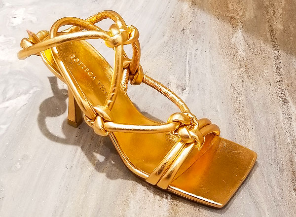 Knotted sandal heels