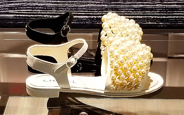 Pearl Chanel sandals
