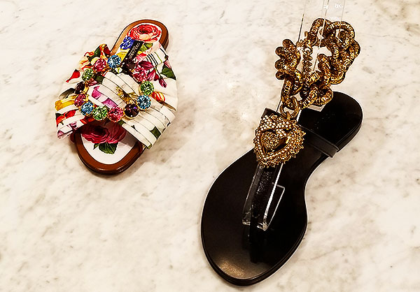 Decorated sandals from Dolce
